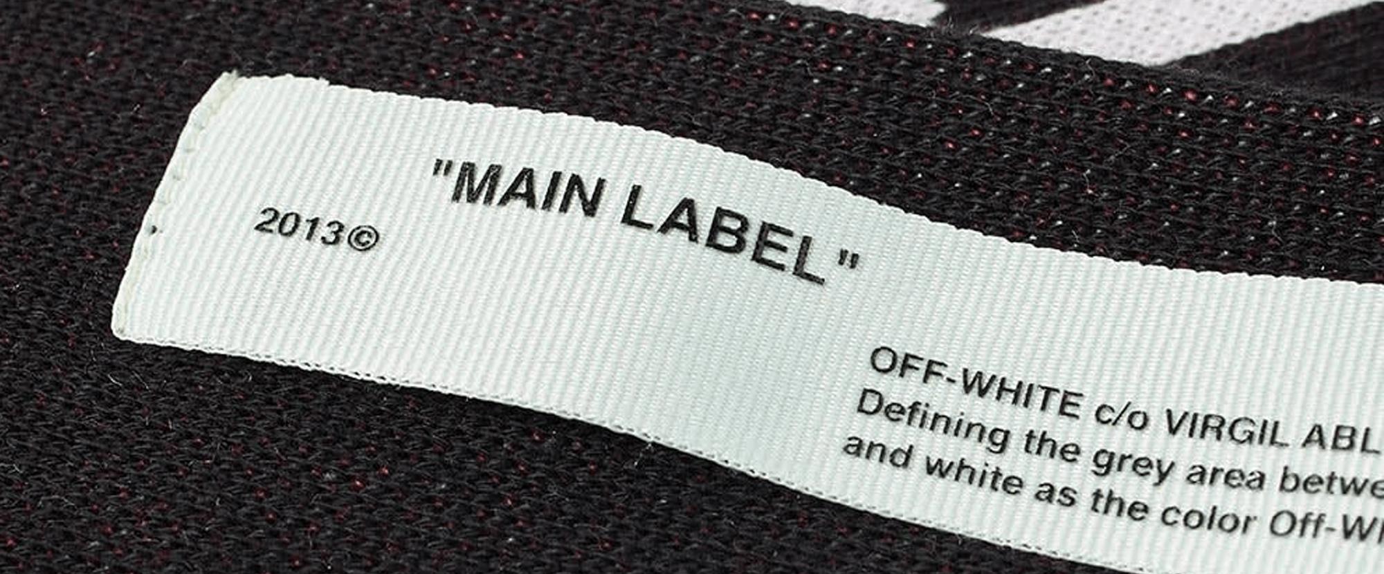 LAETUS label off white noir