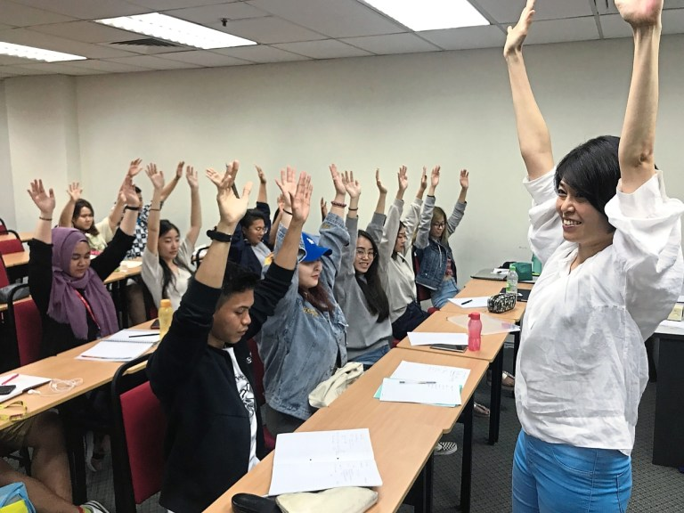 Breathing exercise to help students de-stress