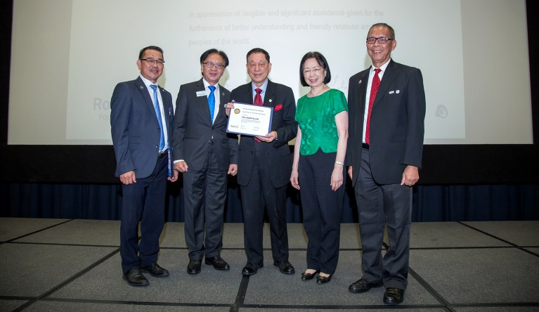 ROTARY CLUB OF BUKIT KIARA SUNRISE AWARDS PAUL HARRIS FELLOW TO DATUK DR PAUL CHAN