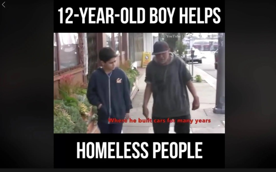 12 Year Old Boy Helps Homeless