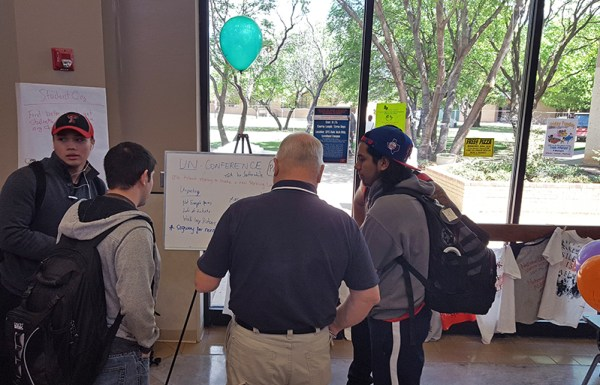Students participate in the unconference at South Plains College