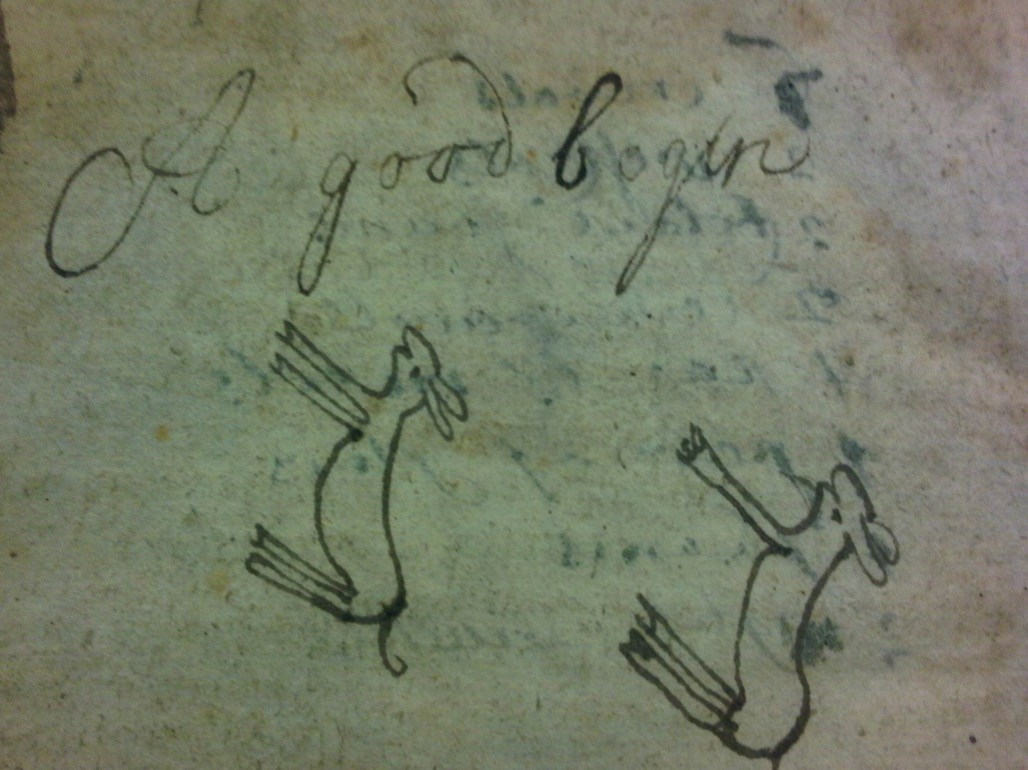 Another example of the Baird boys' marginalia (Sp Coll Mu50-c.15)