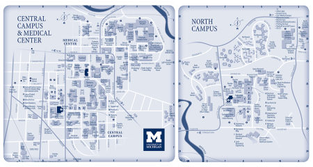 University Of Michigan Central Campus Map 51565 Hdweb