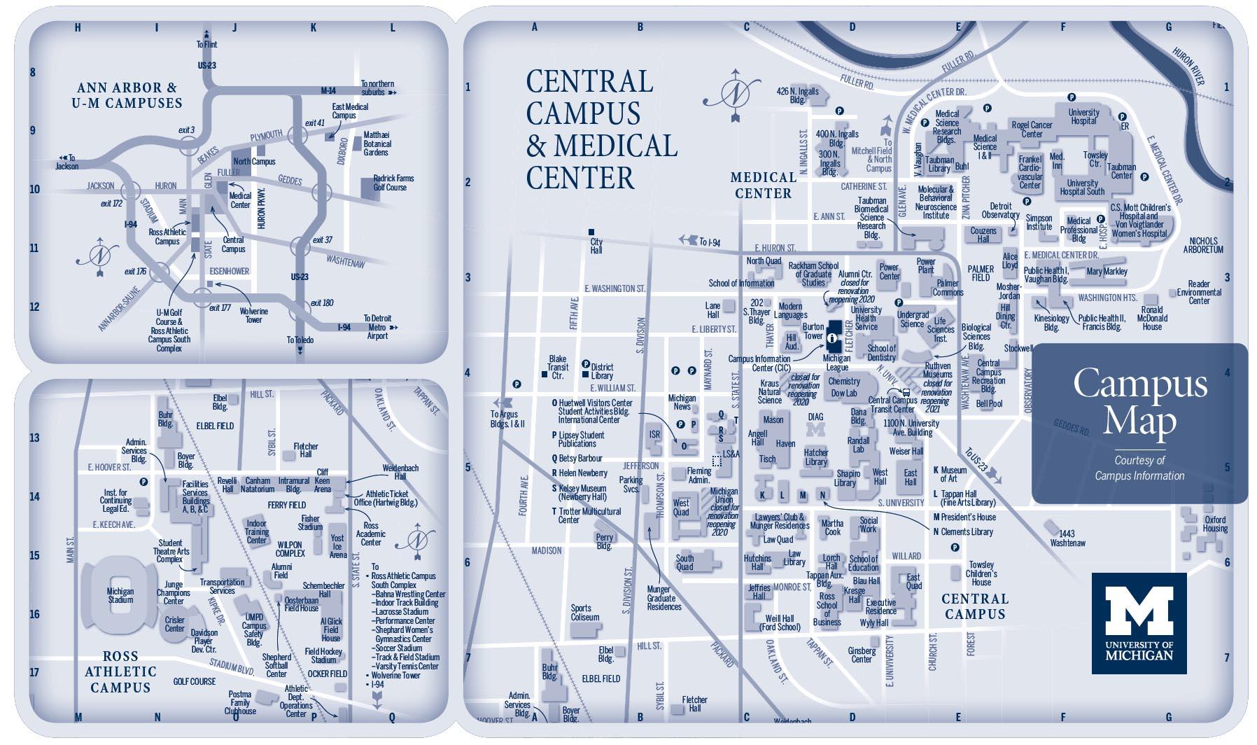 University Of Michigan Campus Map