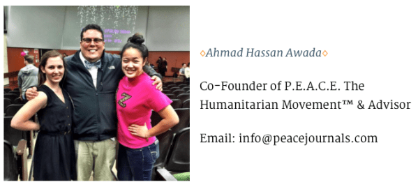 We are going to start a series called #PeaceTeamTuesdays where we introduce members of our team to all of you. It only makes sense to start off with our founder, Ahmad Awada! Ahmad's passion for helping others shines in everything he does. He strives to devote as much time as he can to help better the community around him. Hardworking, humble, and hilarious, Ahmed is truly a pleasure to be around. Although he has moved on to do great things at the University of Michigan, Ahmed remains active with Peace Journals at Wayne State University💛💚💛