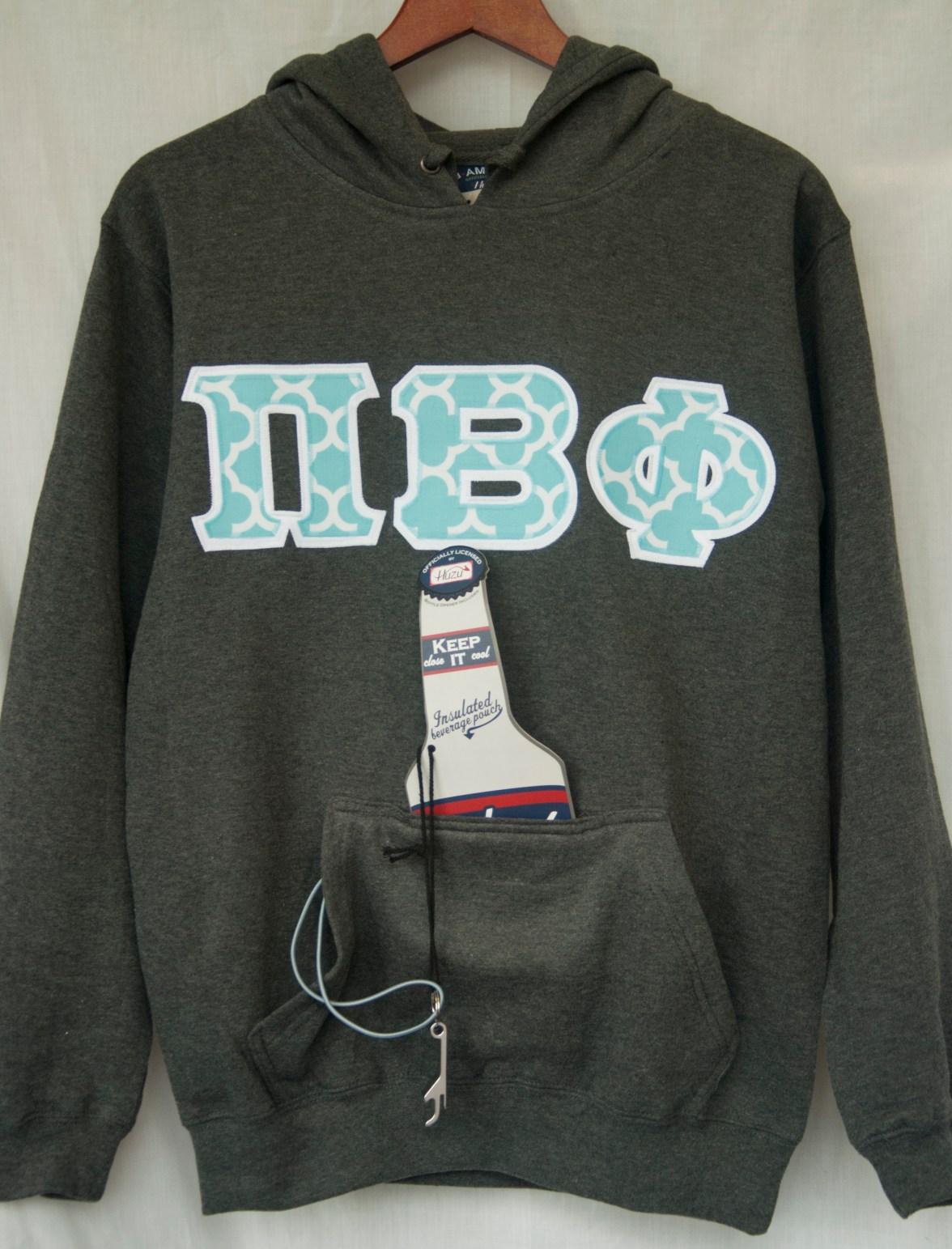 J. America - Tailgate Poly Fleece Hooded Pullover Sweatshirt - Charcoal | http://goo.gl/trq1oO