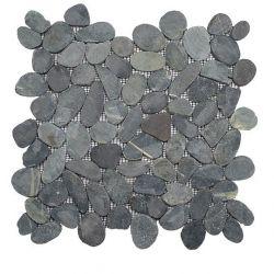 mosaiques de galets naturels scies