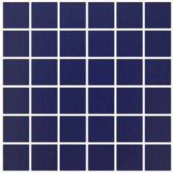 carrelage 5x5 cobalto bleu fonce mat