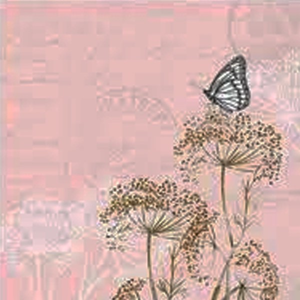 "GUARDANAPO ""BUTTERFLY BRANCHES ROSE""-33X33CM"