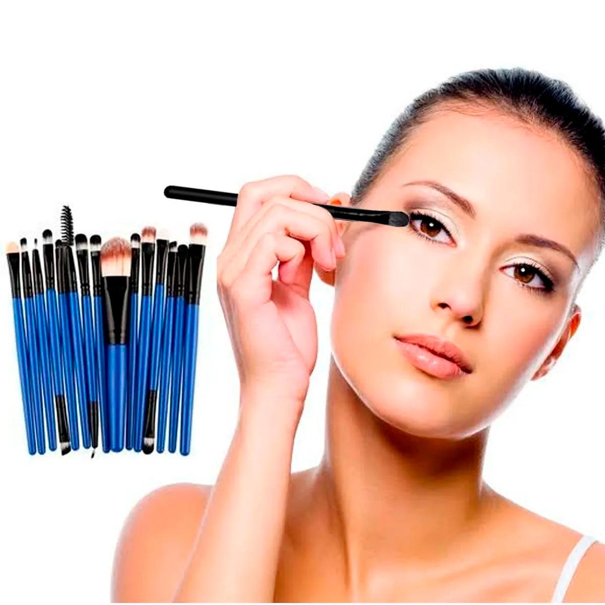 Set 15 Brochas Para Maquillaje Profesional