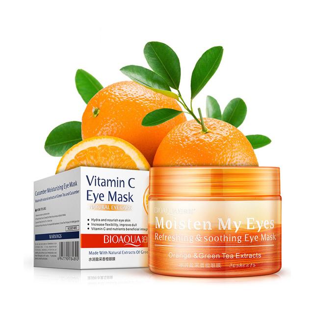 Bioaqua Vitamin C Eye Mask Anti Hinchazón, Círculo Oscuro