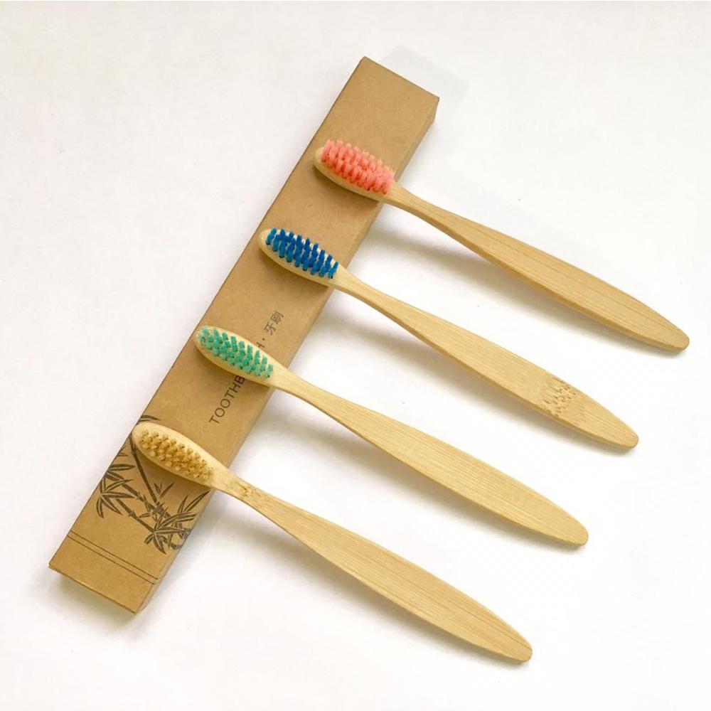 Cepillo De Dientes Ecológico De Bambú Biodegradable Para Niños