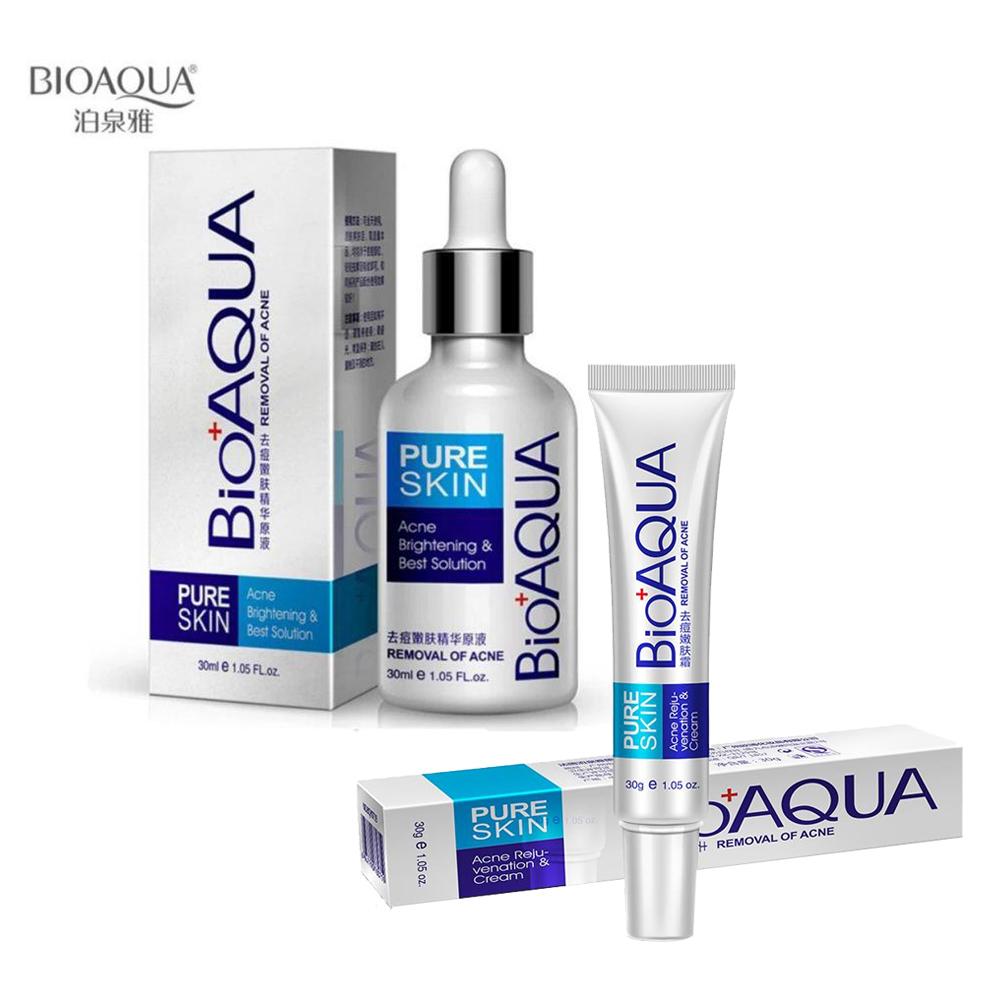 Duo Pure Skin Bioaqua Removedor De Acné Serum Y Crema