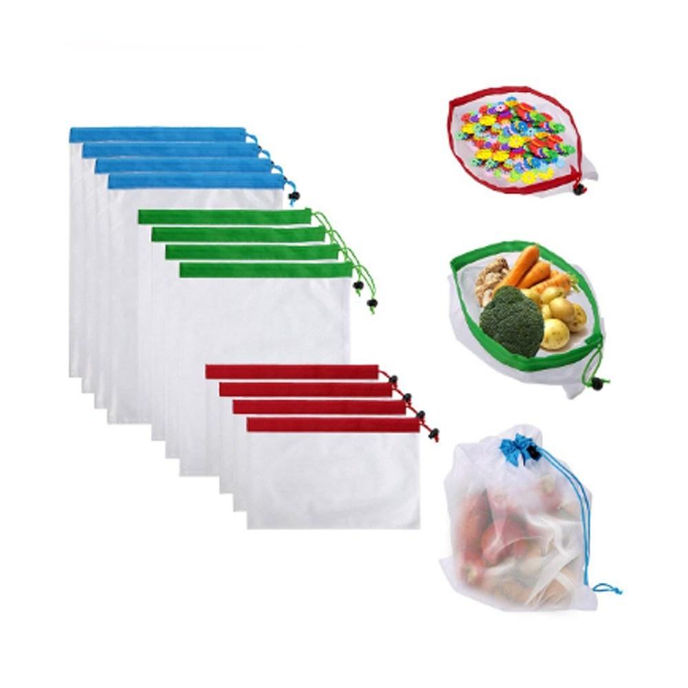 Paquete Bolsa Portátil Ecológica Y Reutilizable Multiusos Supermercado 12pz