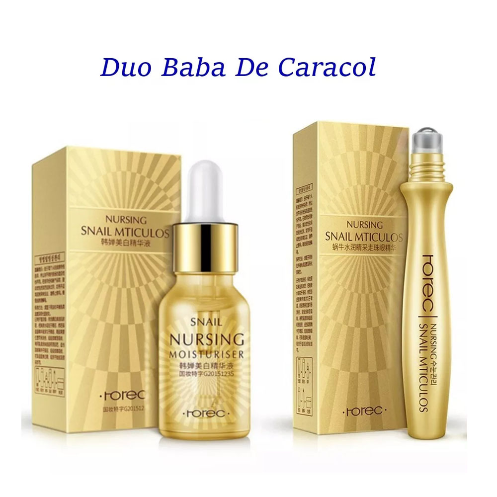 Set Colágeno Baba Caracol Roll On Serum Rorec 2pz