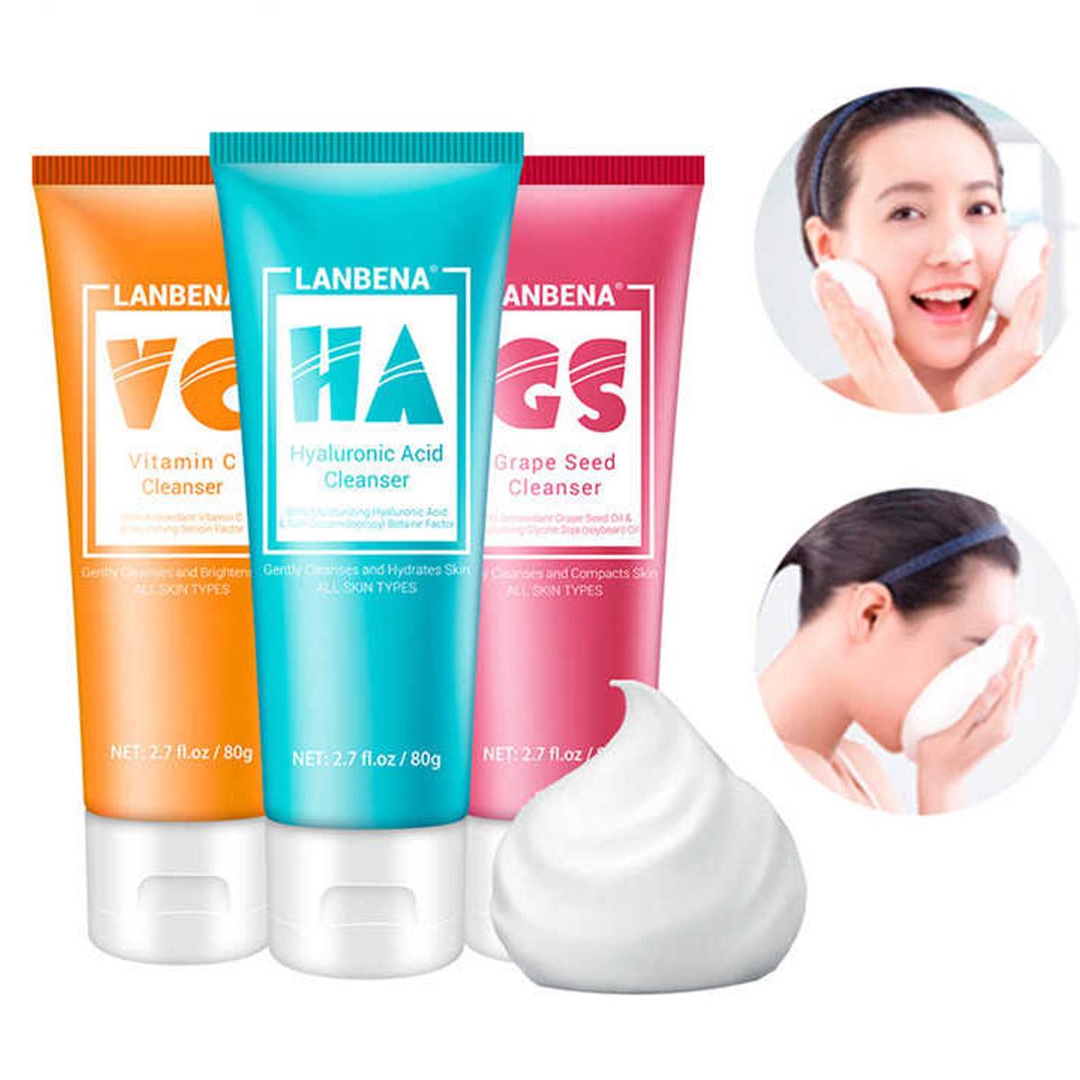 Limpiador Facial Lanbena Espuma Para Limpieza Profunda 80gr