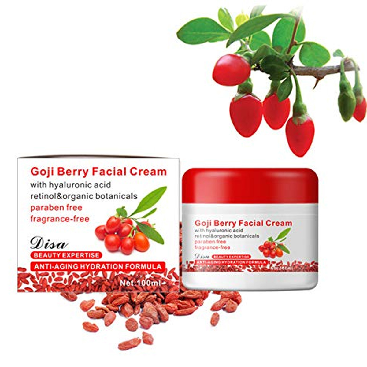 Goji Berry Crema Facial Revitalizante Anti-envejecimiento