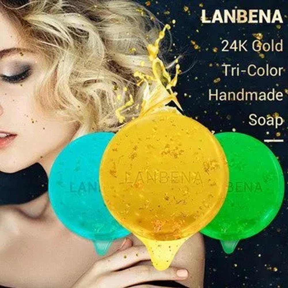 Jabones Lanbena 24k Tricolor Anti-Acné Reduce Arrugas