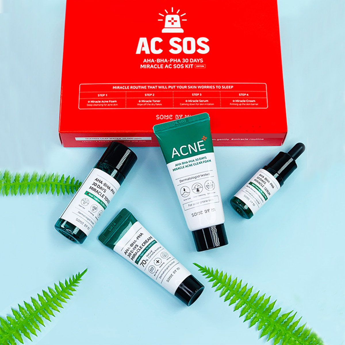 Aha Bha Pha 30 Days Miracle Set Miniaturas Ac Sos Some By Mi Elimina Acné
