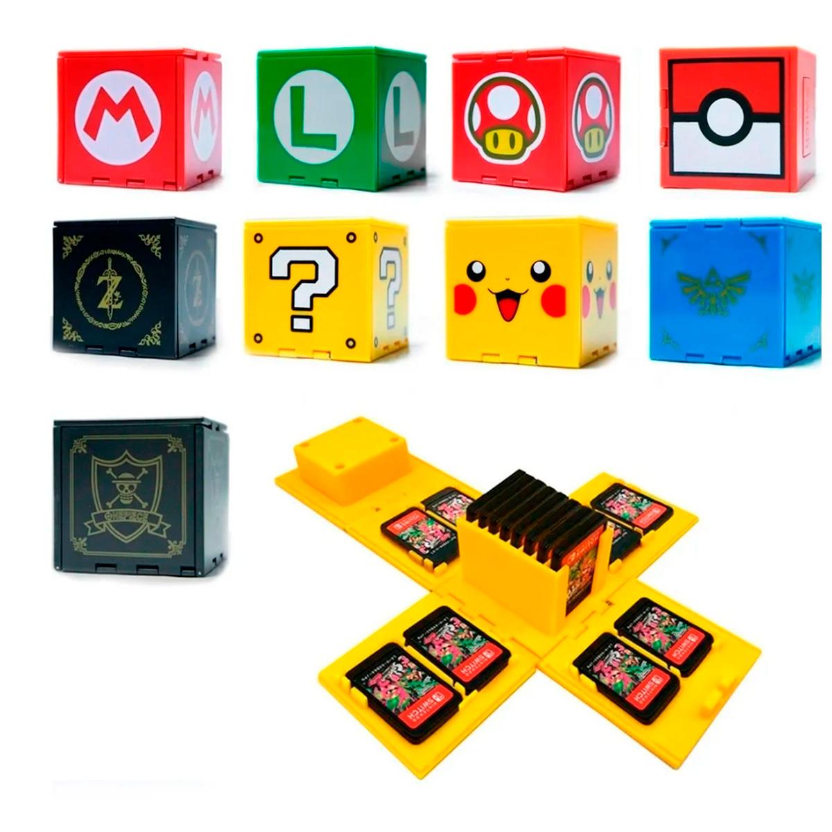 Cubo Estuche Para Juegos De Nintendo Switch Portátil