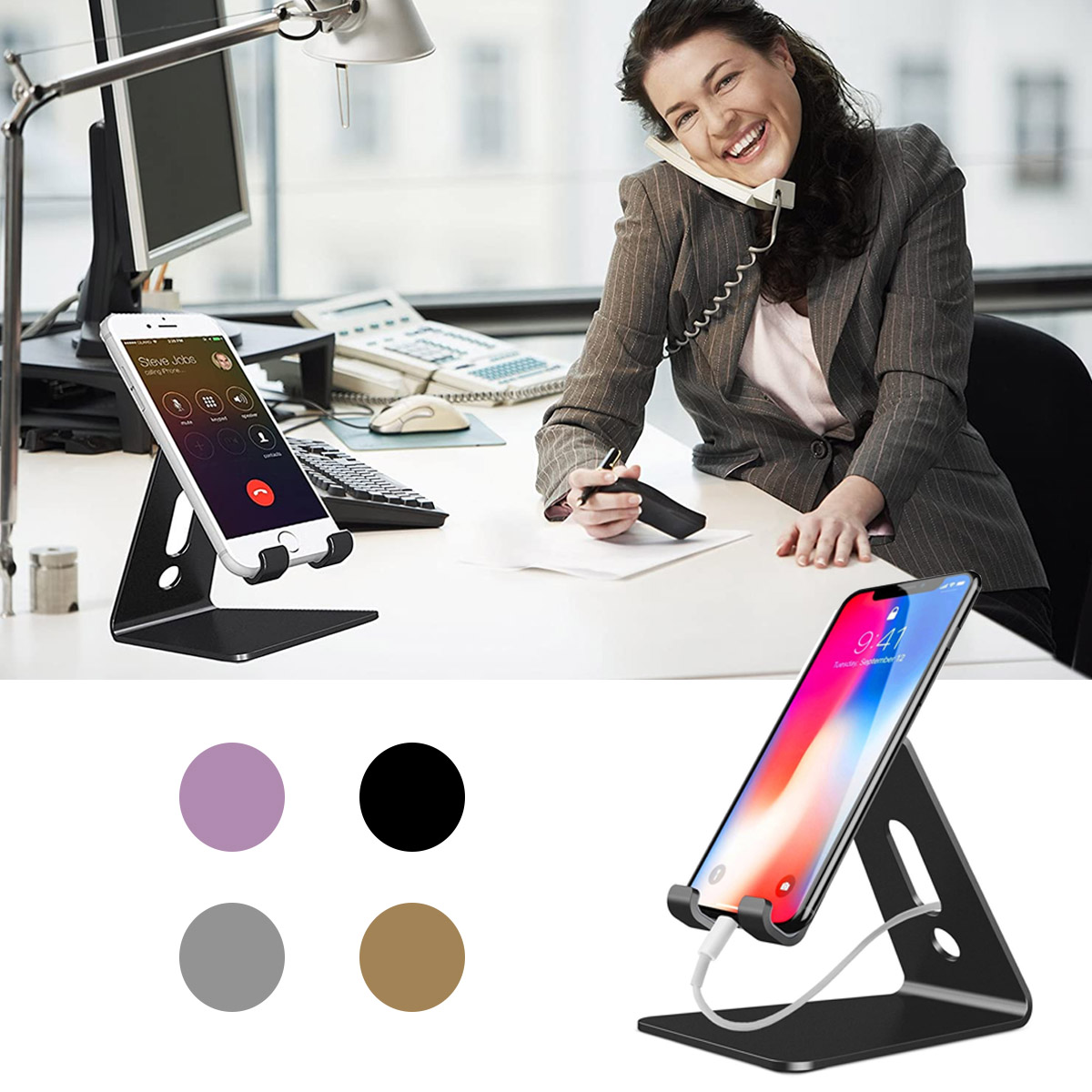 Soporte De Aluminio Portátil Para Celular Tablet IPad IPhone