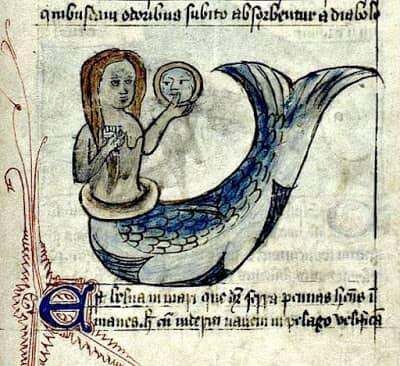 Ilustracion-de-sirena-con-espejo-y-peine.-Inglaterra-siglo-XV