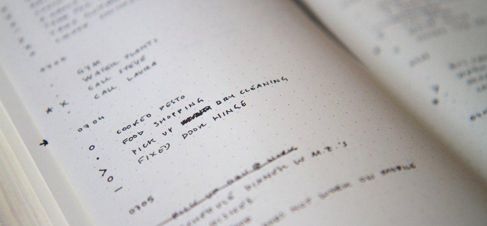 El método Bullet Journal de Ryder Carroll | Universos Literarios