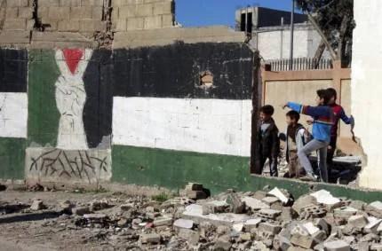 Bambini in un campo rifugiati in Syria