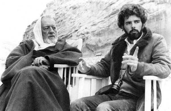 george lucas alec guinness backstage guerre stellari
