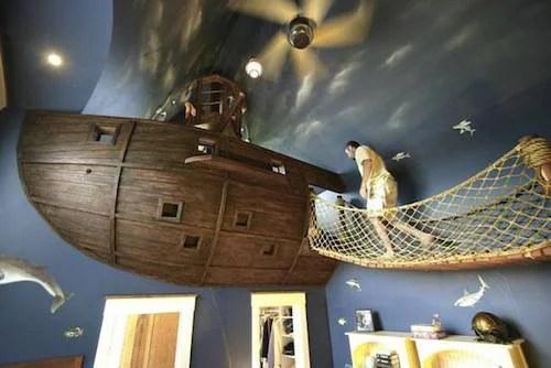 Sottomarino in una cameretta