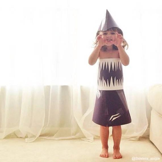 vestito di carta bimba squalo