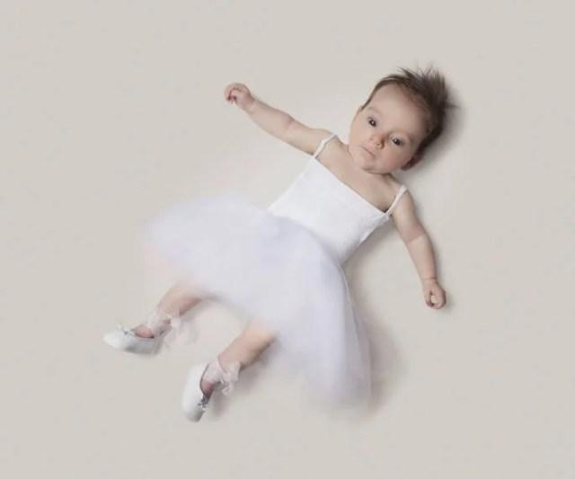 bimba vestita da ballerina