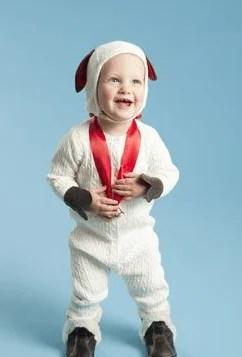 bambino vestito ariete