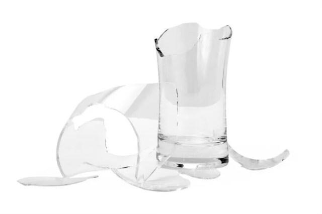 bicchieri rotti