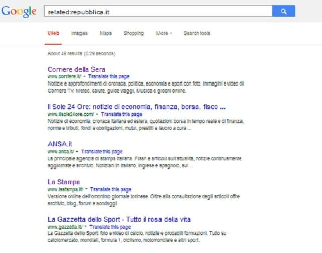 google ricerca correlata
