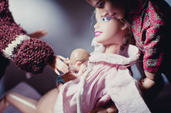 barbie-con bimba