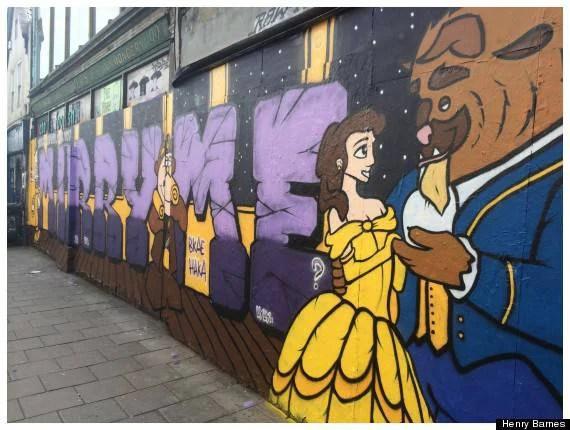 murales bella e bestia