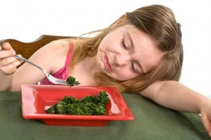 bimba non mangia spinac