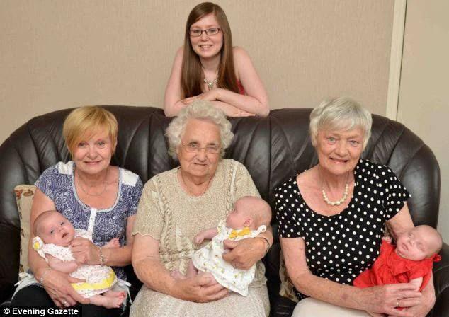 cinque generazioni di donne
