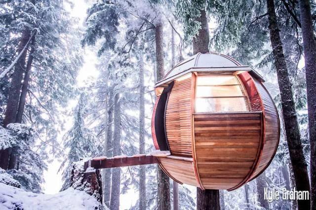 casa nella natura in canada