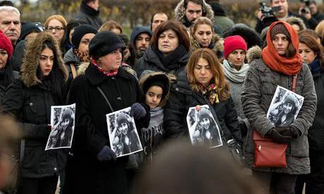 manifestazione per Tugce Albayrak