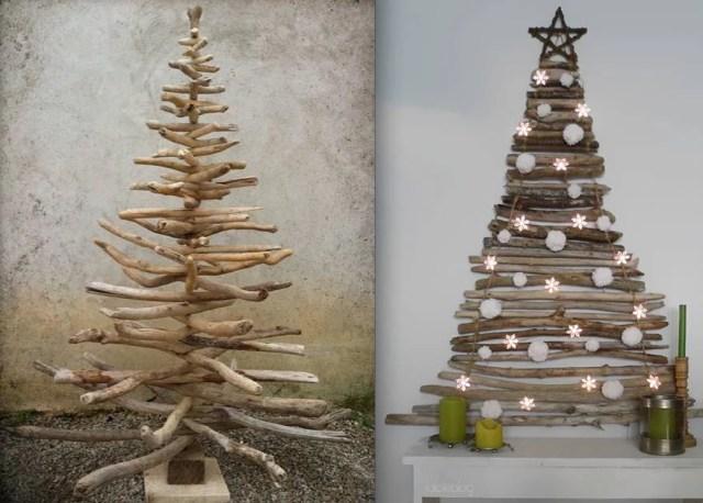 Albero di natale 21 idee originali per decorarlo - Rami di legno decorativi ...