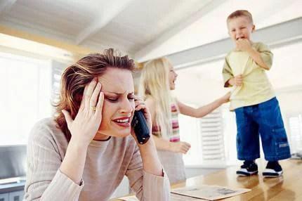 donna con figli
