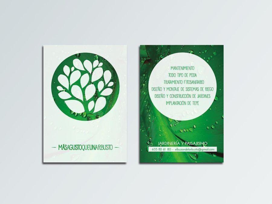 Diseño flyers para más a gusto que un arbusto