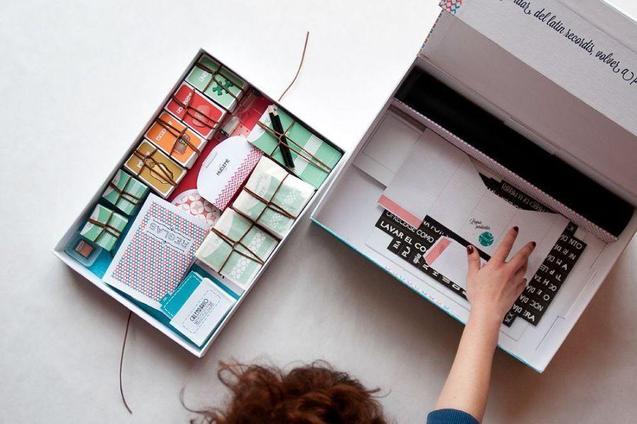 Interior caja reconocer, diseño sostenible