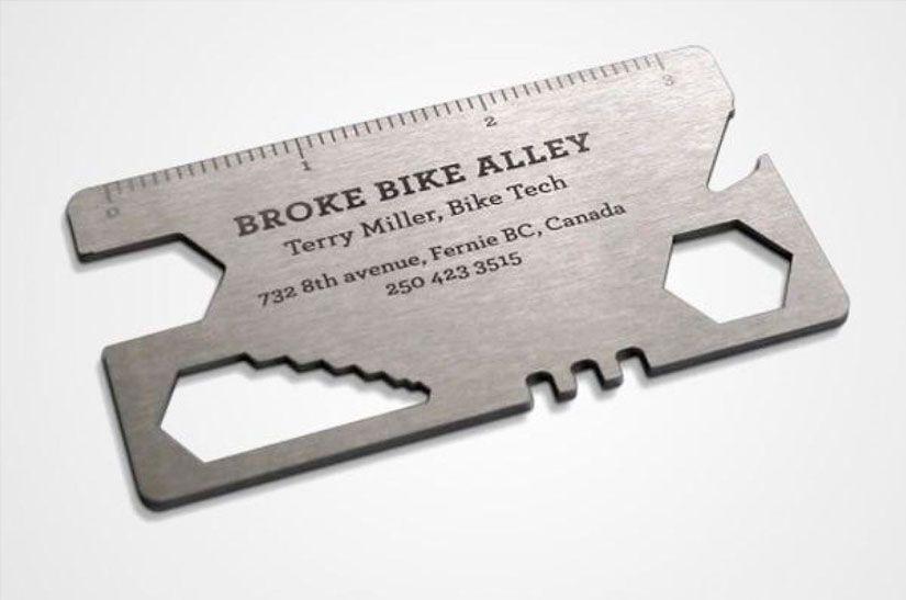 tarjeta para arreglar bicicleta
