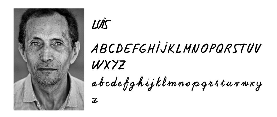 Luis, homelessfont, tipografía para humanizar