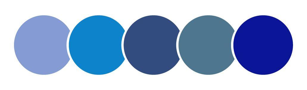 color azules círculos