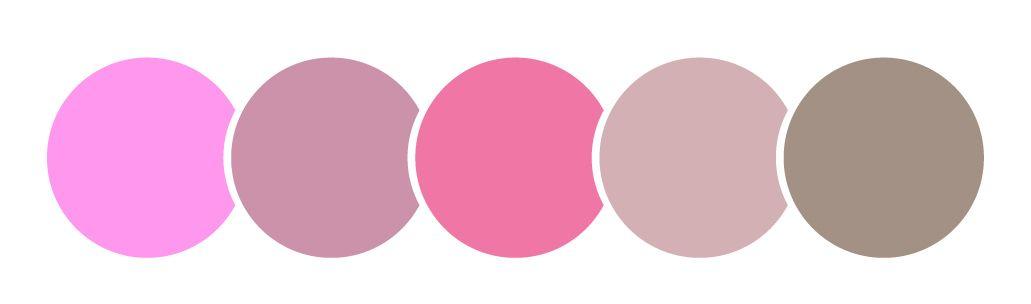 color rosa, círculos