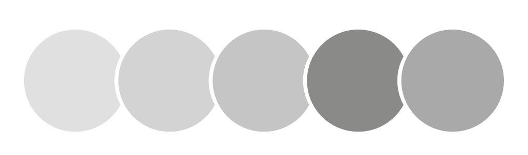 color gris, círculos